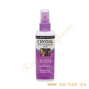 Дезодорант-спрей Crystal (Кристалл) для тела, пр-во Таиланд, 118 мл